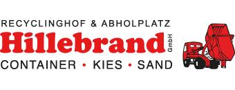 Hillebrand Container-Dienst · Kies · Sand